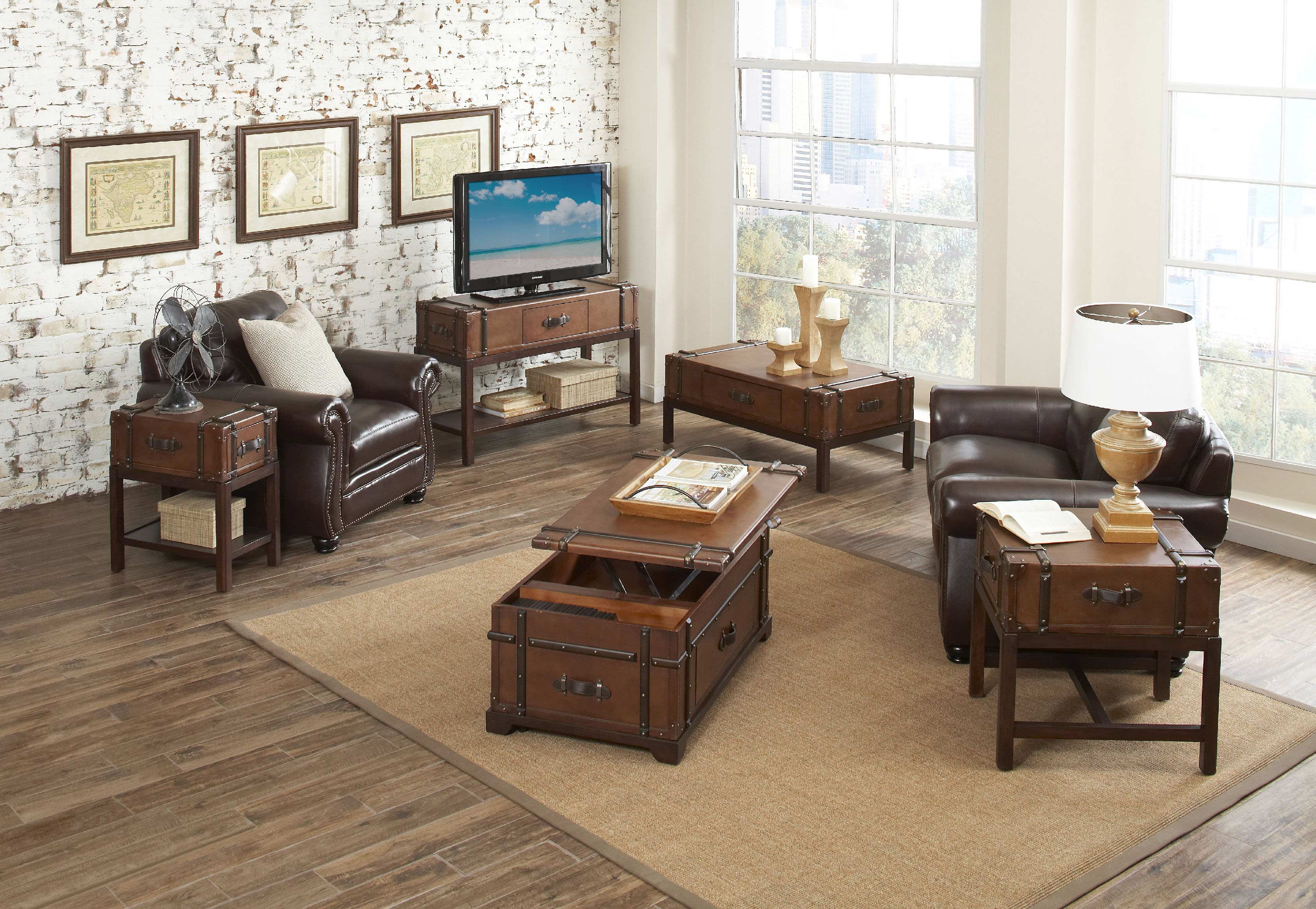 awesome wooden living room furniture storage chest table sets ideas