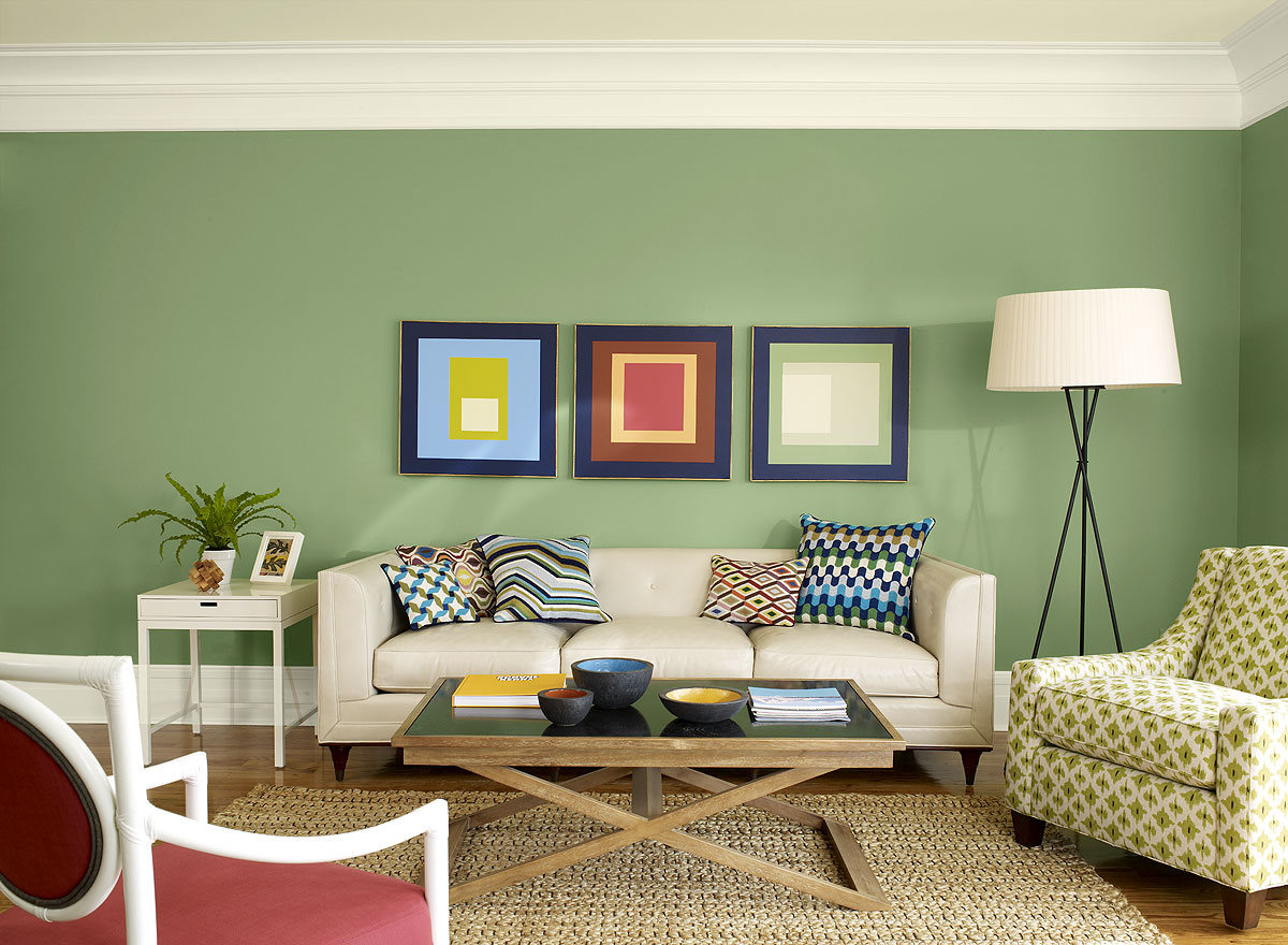 Best paint color for living room ideas to decorate living for Modern living room green