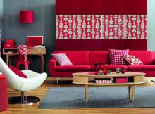 best contempoary red decorating living room pictures ideas
