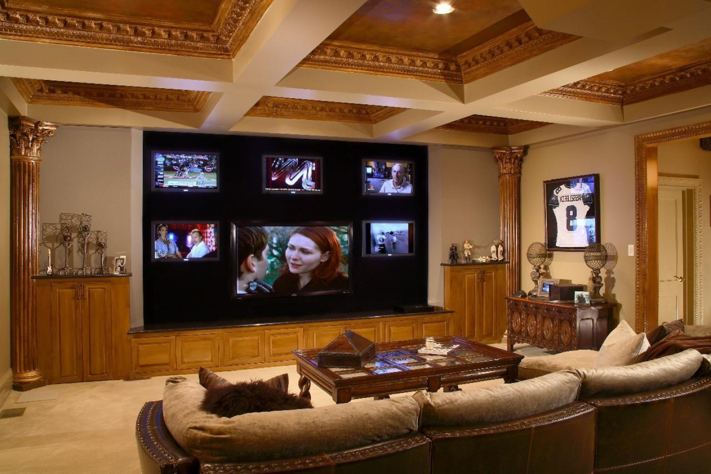 best ideas to decorate a living room theaters with contemporary ceiling design