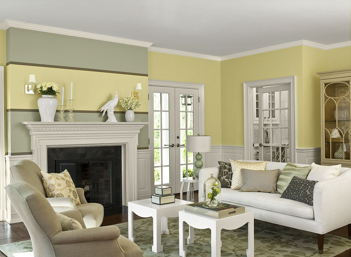 Best paint color for living room ideas to decorate living for Yellow modern living room ideas