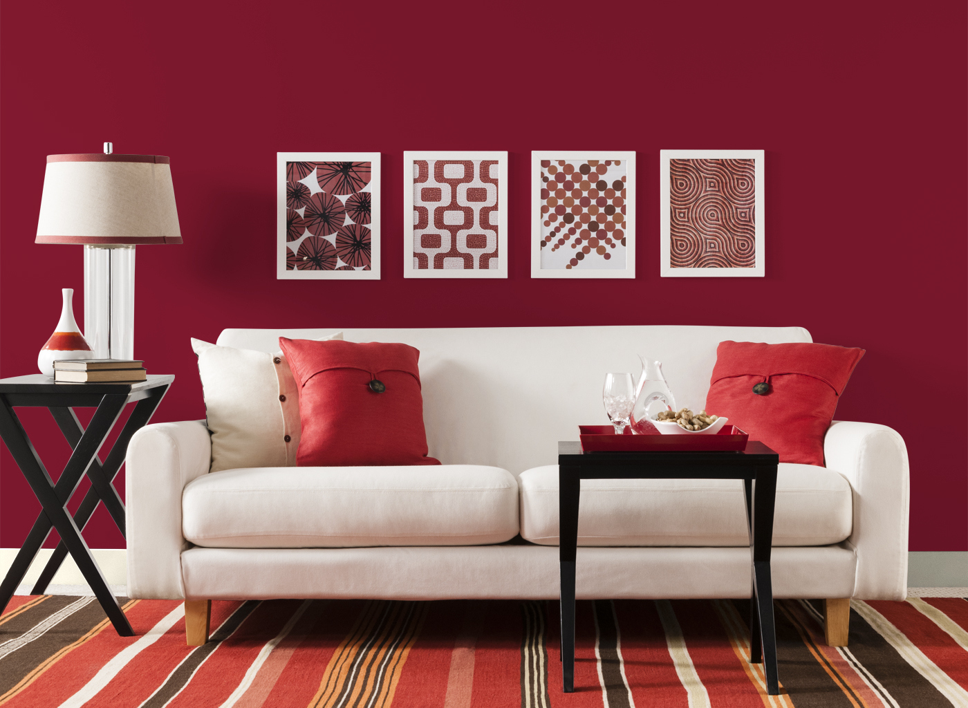 Red paint in living room for Living room color paint ideas