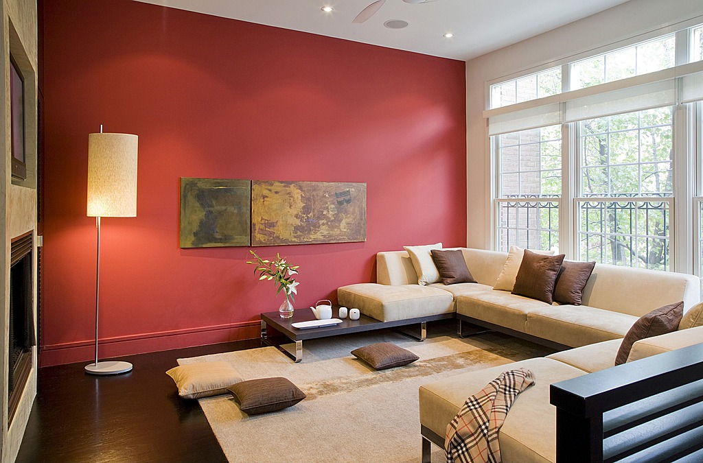 best red wall paint decorating living room pictures ideas