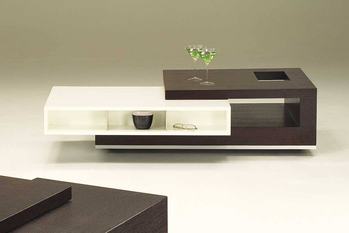 black white modern living room cool coffee tables storage