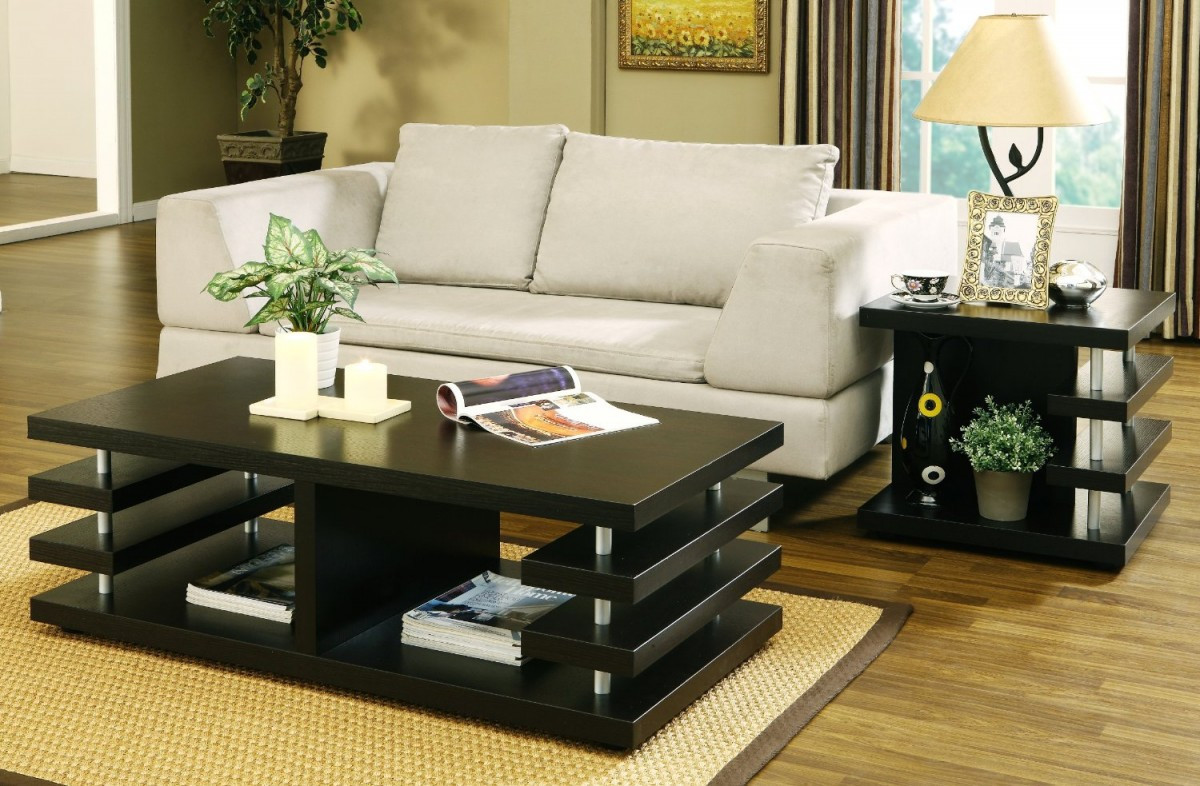 End tables for living room living room ideas on a budget - Brickmakers coffee table living room ...