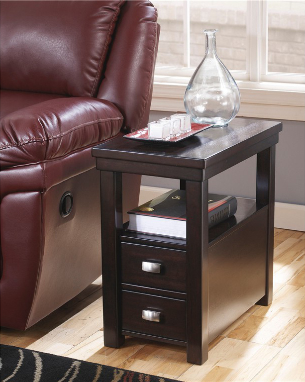 black wooden side tables with storages for small spaces living room