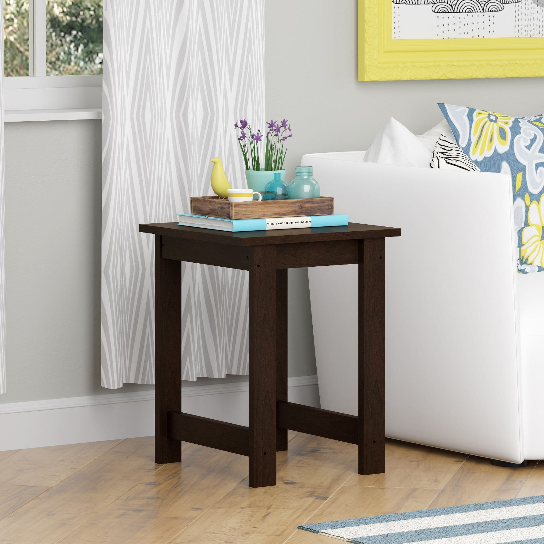 cheap wooden end tables for side table for small spaces living room