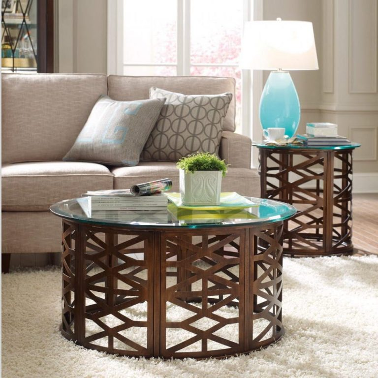 Cherry Wood Coffee End Tables For Living Room Side Tables