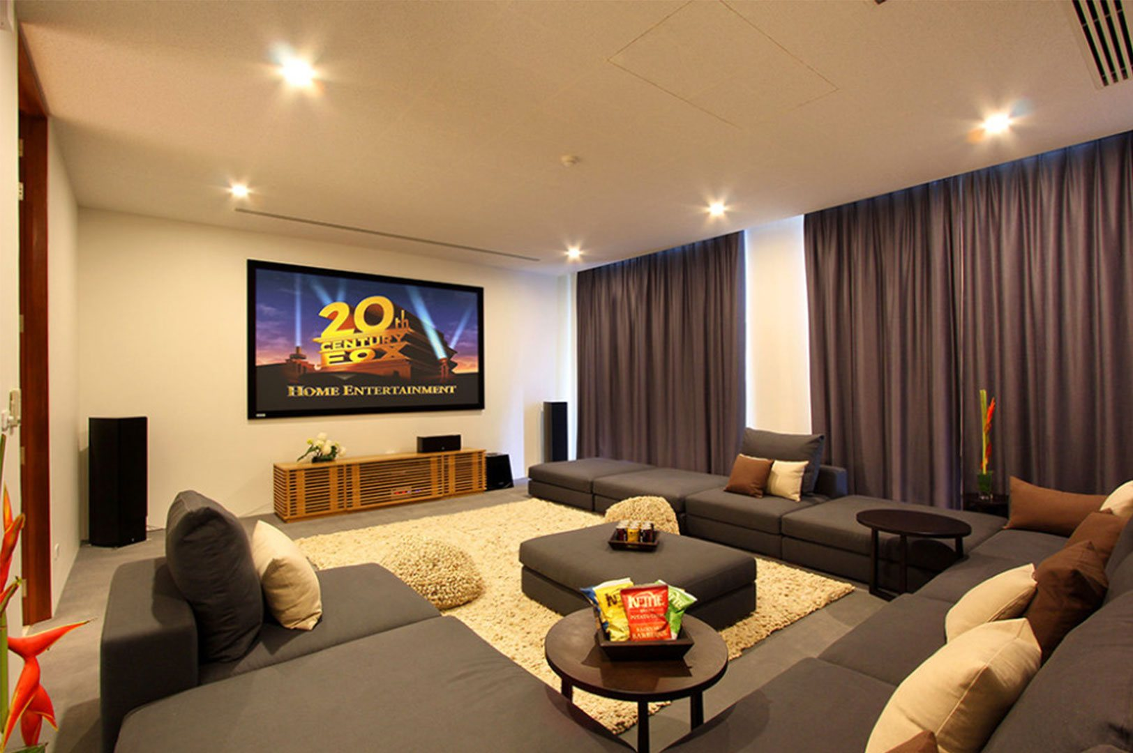 grey family room design ideas to decorate a living room theaters on a budget