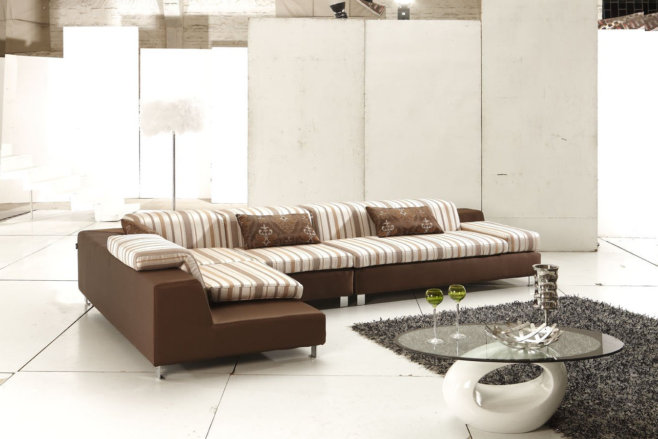 living rooms with modern brown fabric sectionals couch furnitures