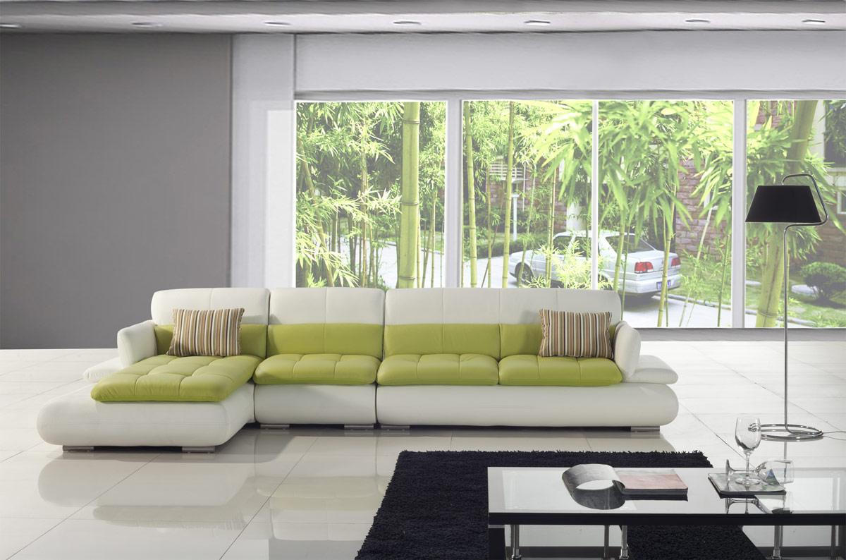 living rooms with modern green white sectionals couch furnitures
