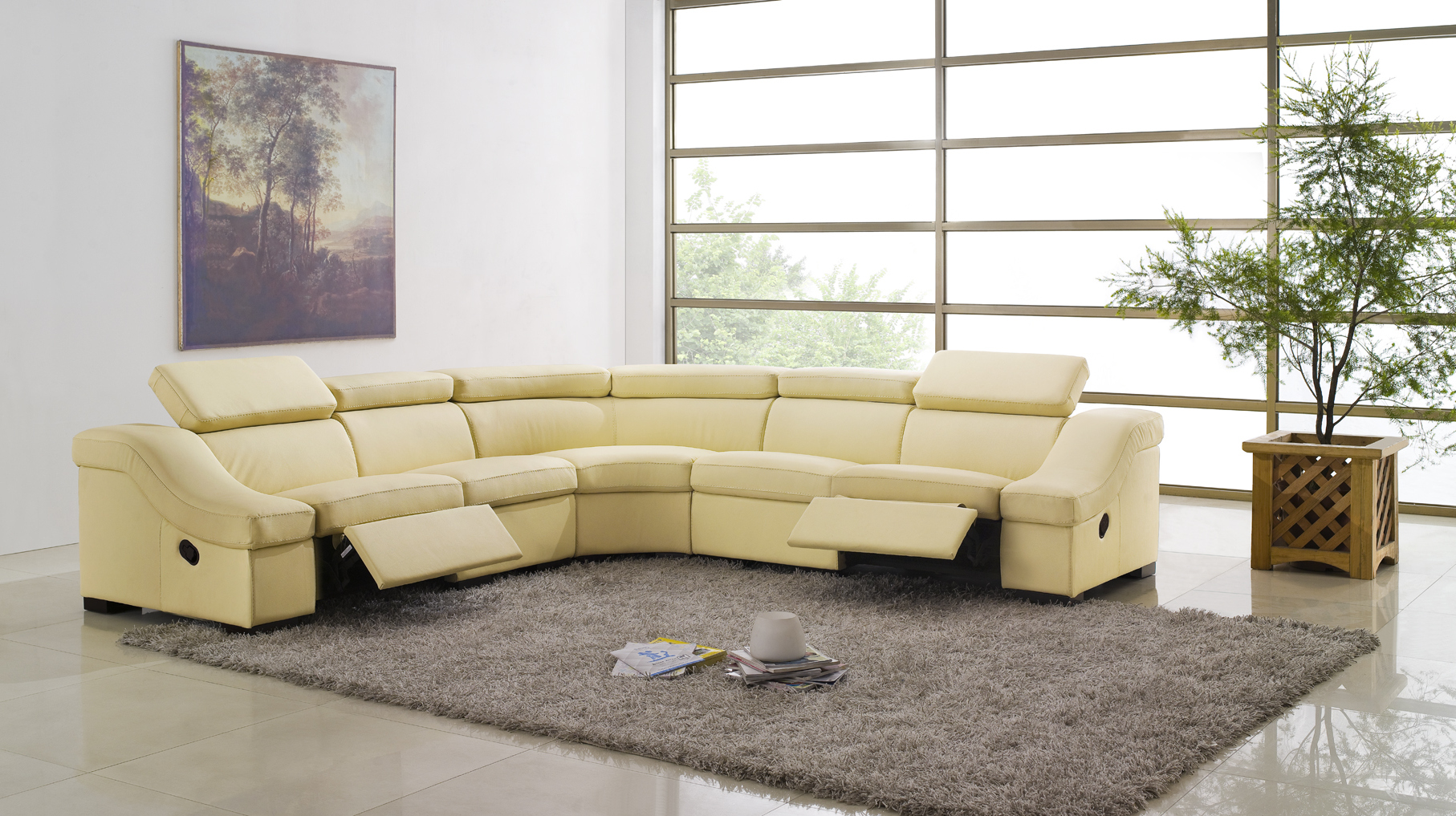 living rooms with white modern leather sectionals couch furnitures