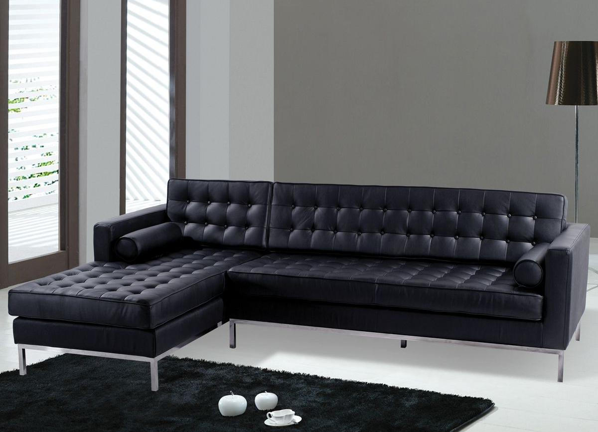 modern black leather tufted living rooms with sectionals couch and loveseat