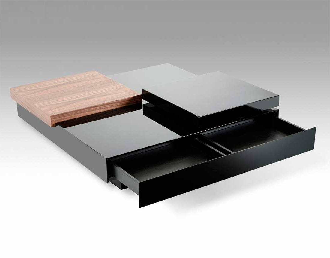 modern black living room coffee tables storage ideas