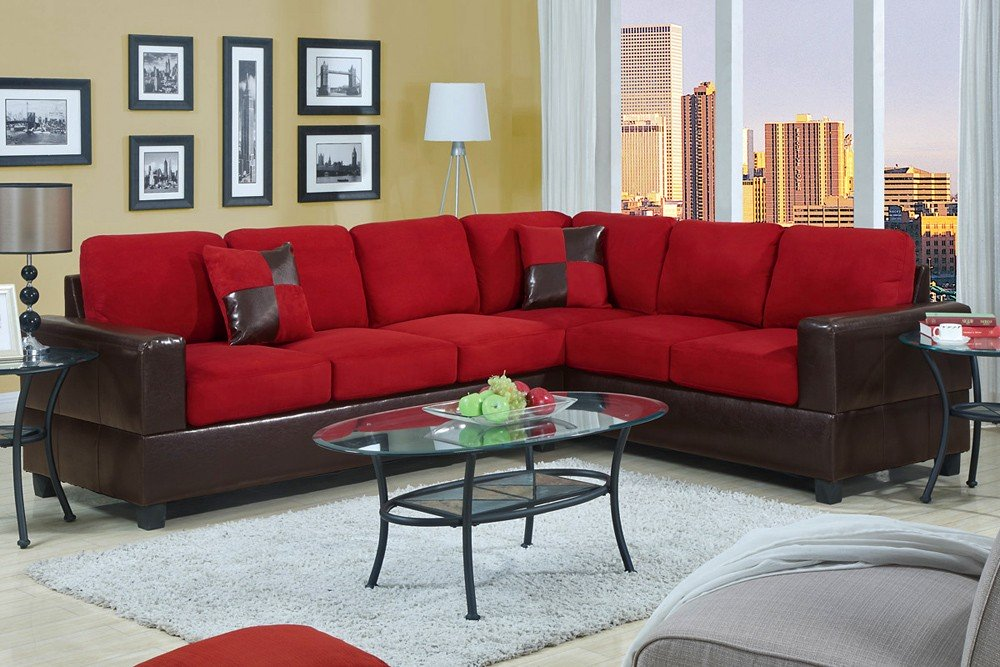 modern black red sofa living room pictures decorating ideas
