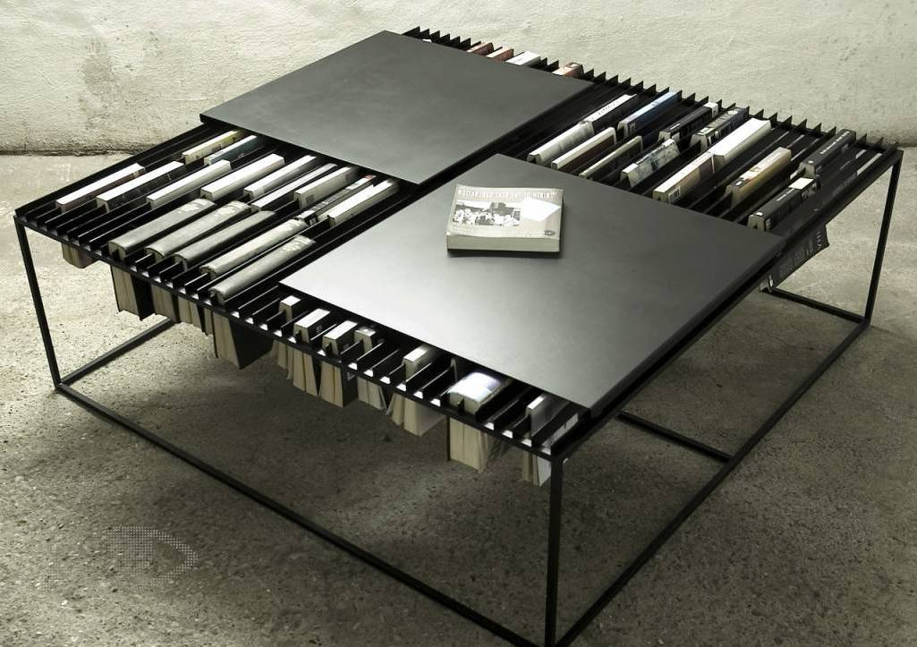 modern living room coffee tables with unique book storage coffee tables ideas