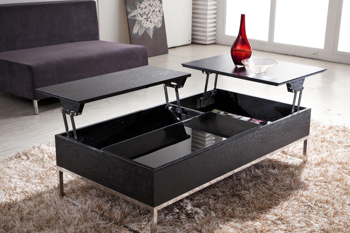 modern living room decor with adjustable lift top coffee tables storage