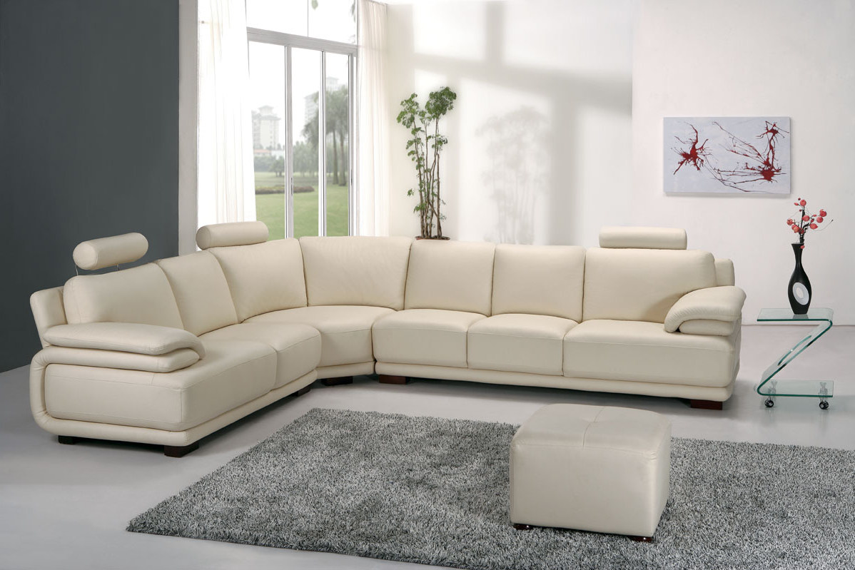 modern living room ideas decorating with white leather sectionals sofa with armchairs
