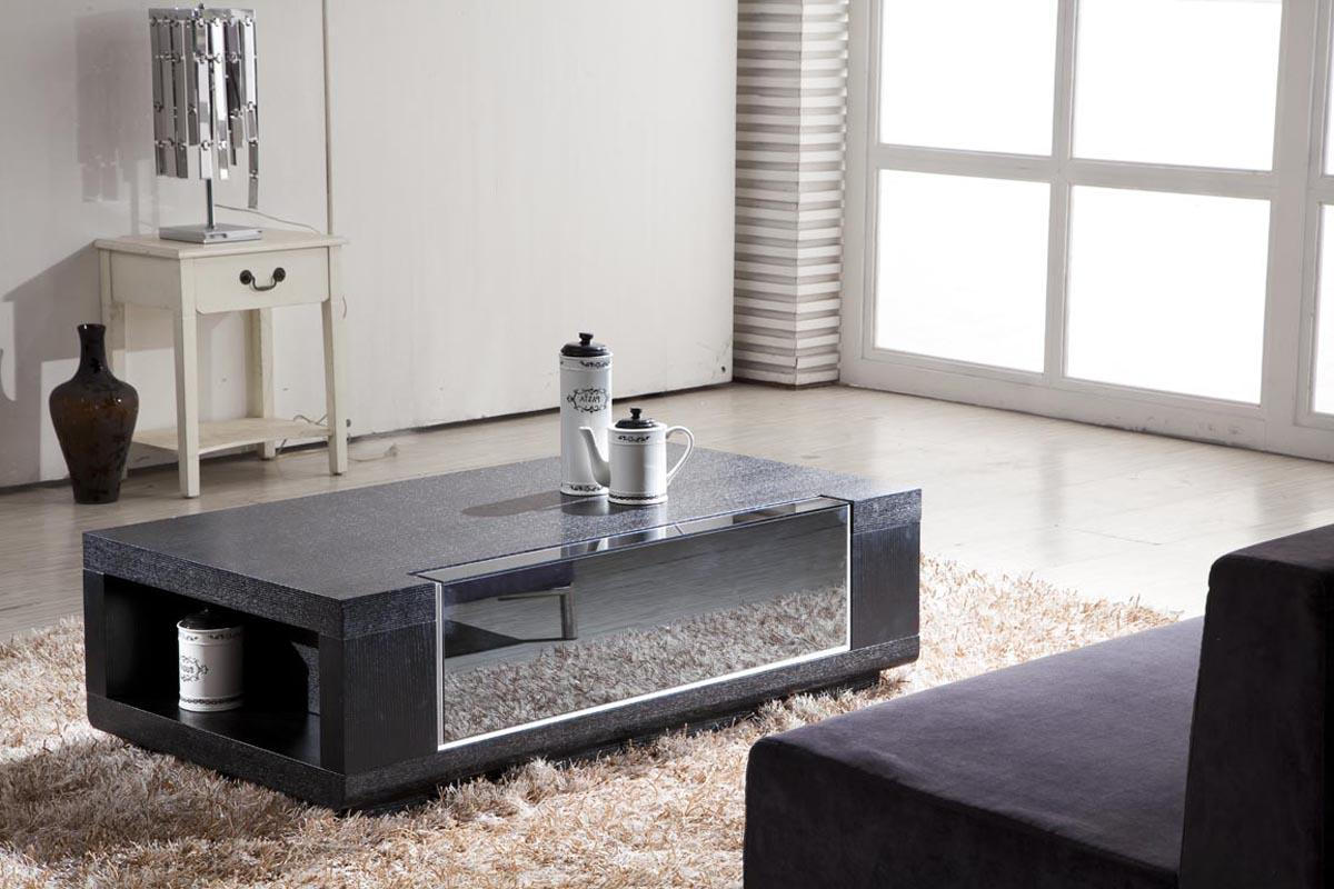 modern living room with cool coffee tables storage with unique mirror coffee tables