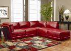 modern living rooms red leather sectionals couch with loveseat design