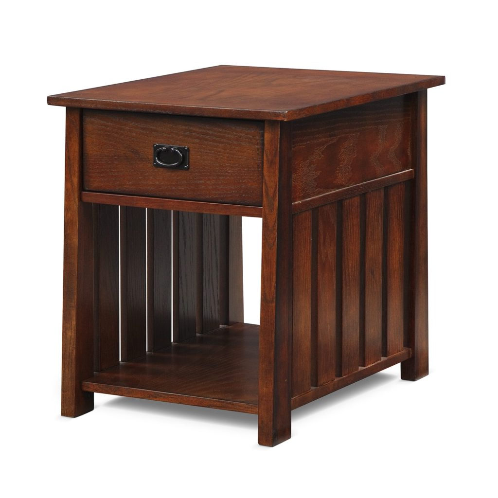 modern small living room oak wooden end tables with storage