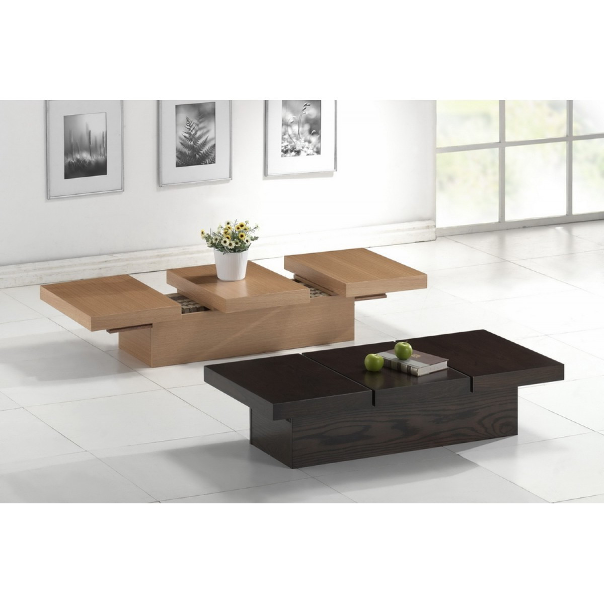 Modern living room coffee tables sets roy home design for Modern living room bench