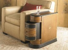 modern wooden side tables with storage for small sapces living room