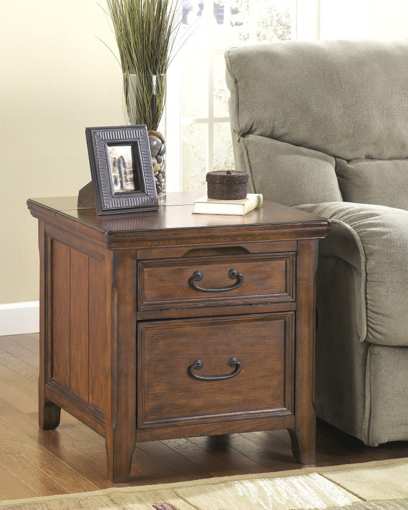 oak wood end tables with storage design for living room side tables for small spaces