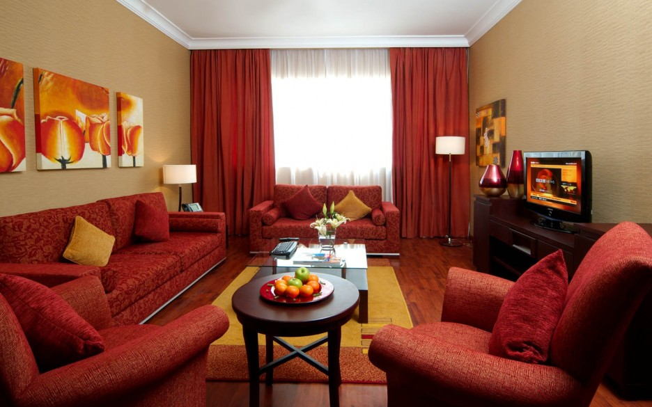 red contemporary living room pictures ideas decorating