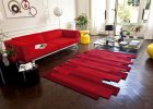 red striped rugs for modern living room ideas