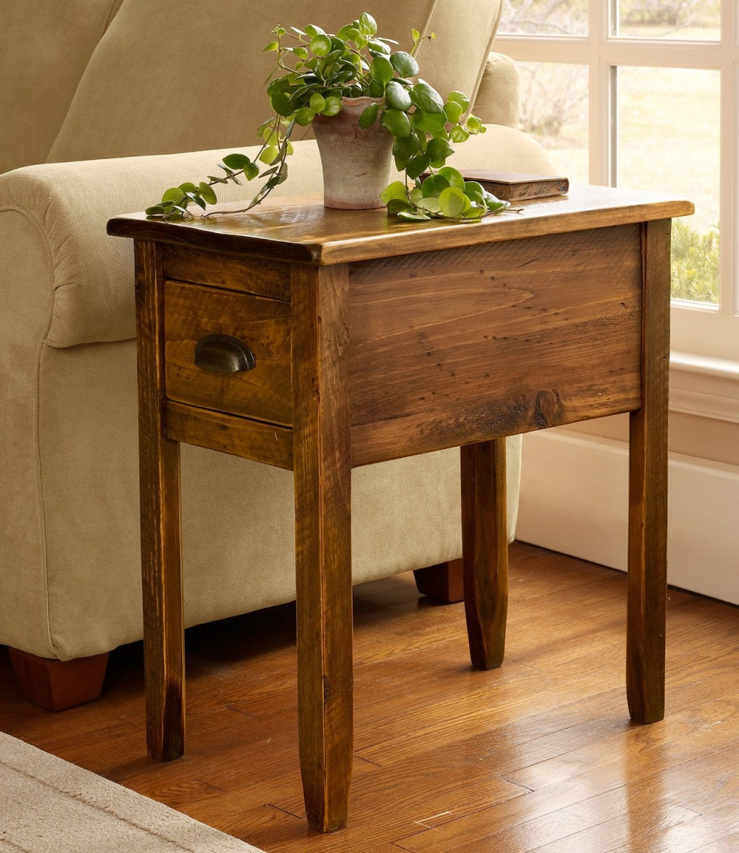 rustic wooden side tables with storage for living room end tables