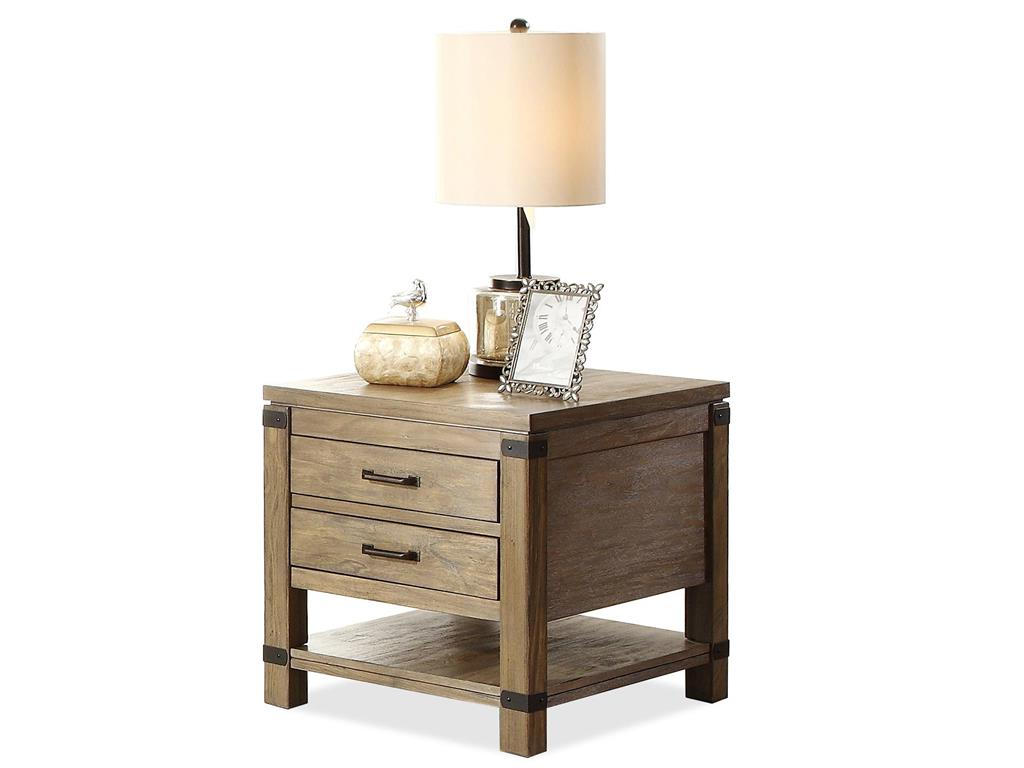 rustic wooden side tables with storage for small spaces living room