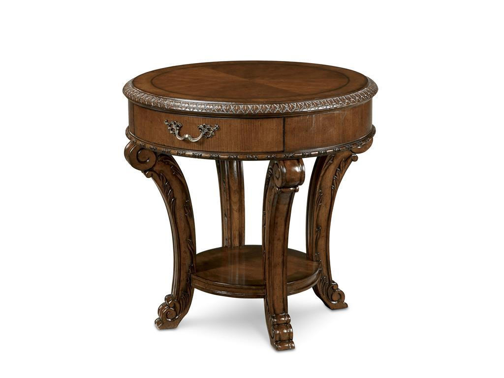 small round wooden living room side tables with storage design