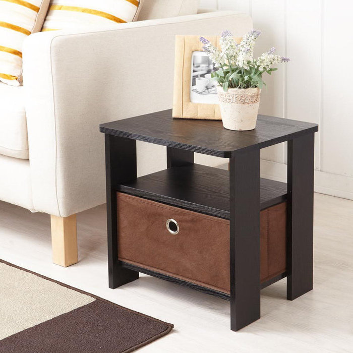 small wooden cherry end tables for living room with storage design