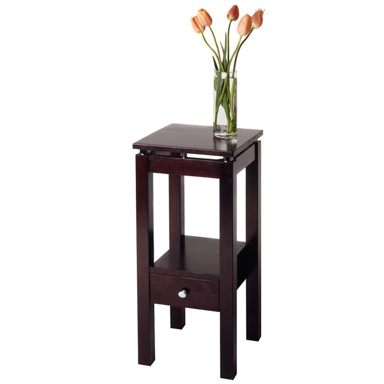 tall living room black wooden end tables with storage design ideas