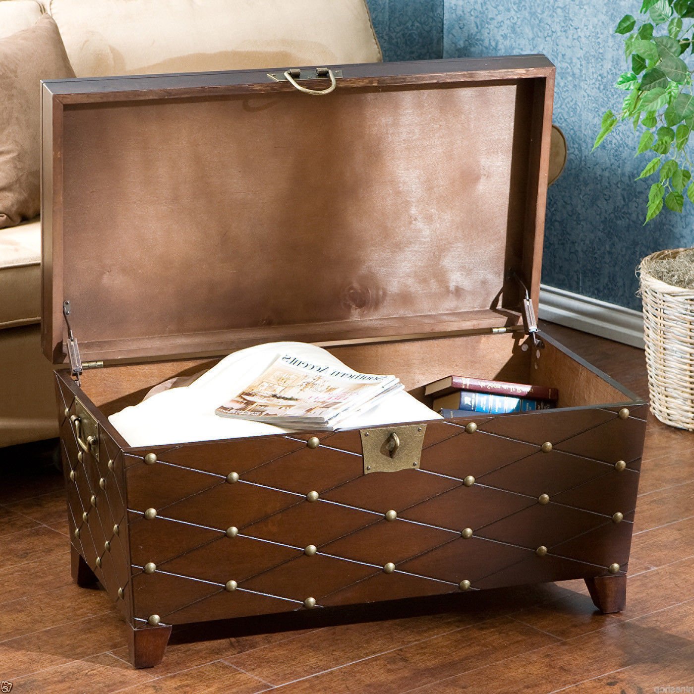unique living room furniture with storage chest coffee table ideas