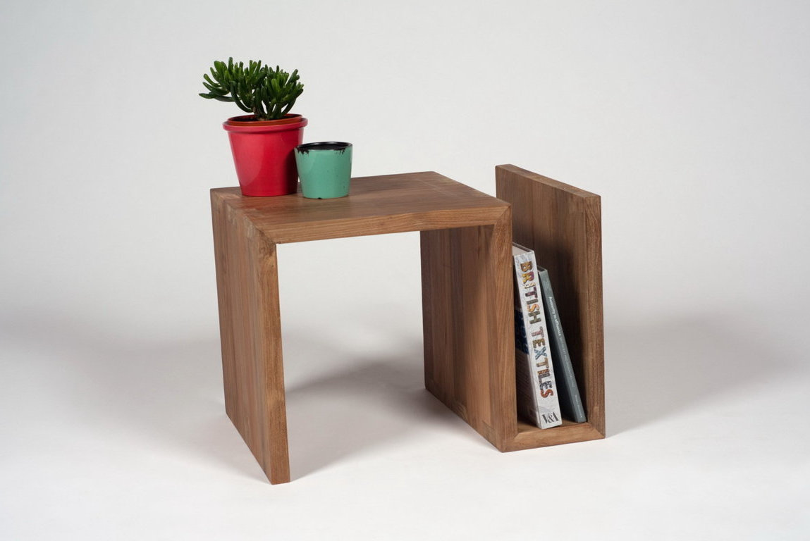 unique modern wooden side tables for small spaces living room
