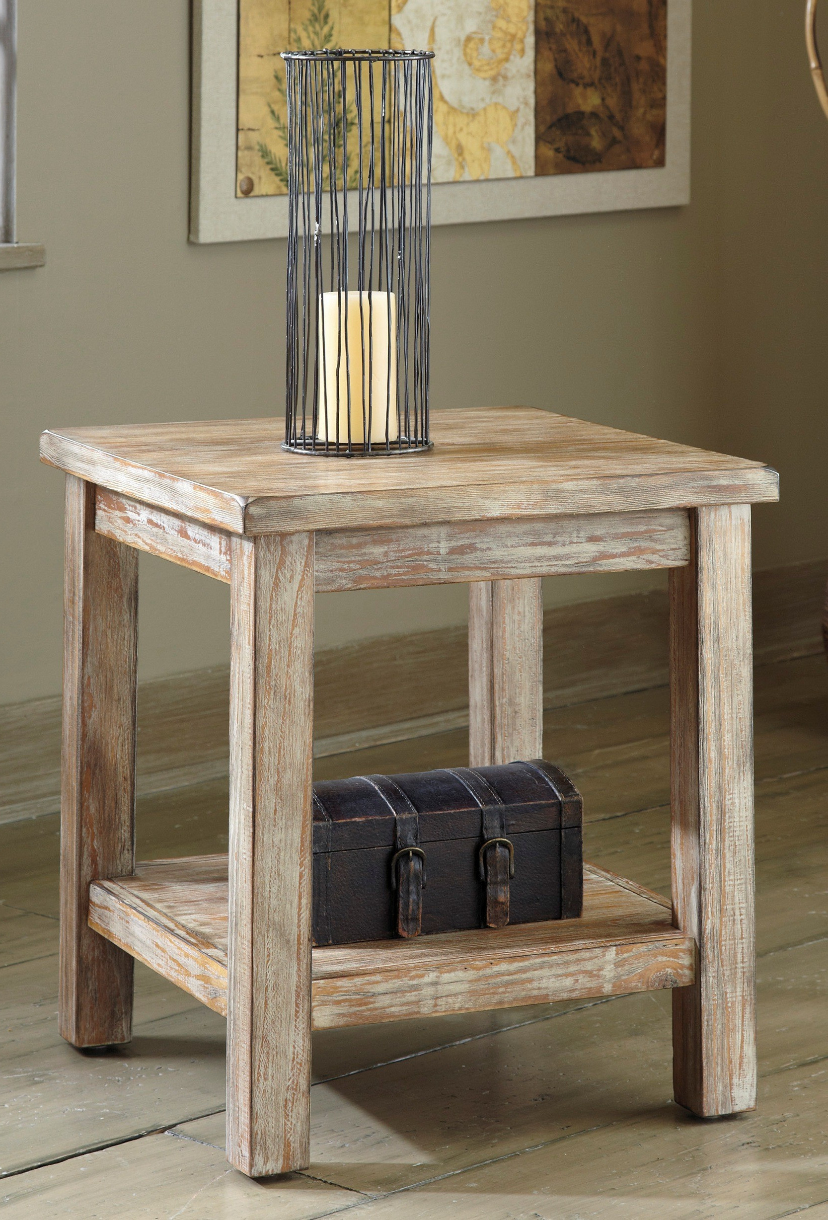white oak living room rustic end tables design
