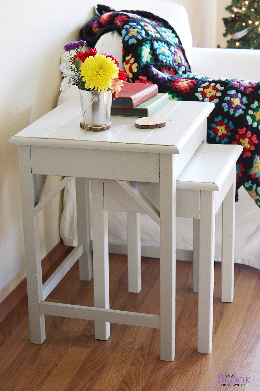 white oak wood end tables set for living room side table for small spaces