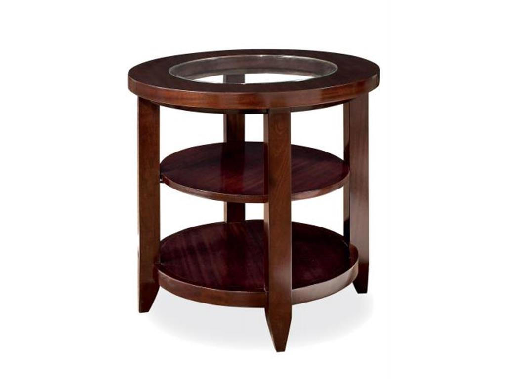 wooden round side tables with glass on top for small spaces living room