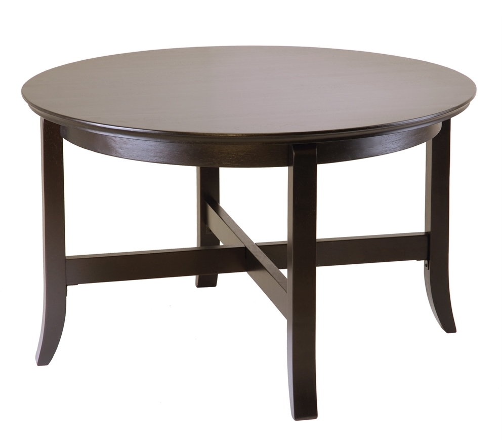30 inch round coffee table collection roy home design Round espresso coffee table