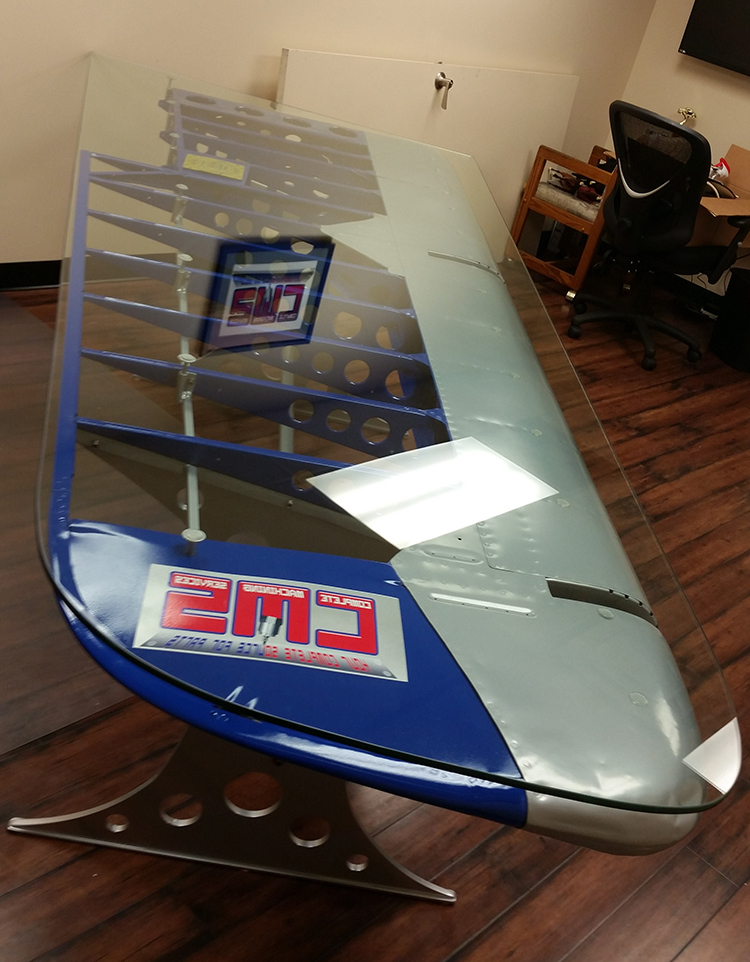airplane wing coffee table 3