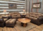 awesome home decor western living room ideas with leather sofa ottoman