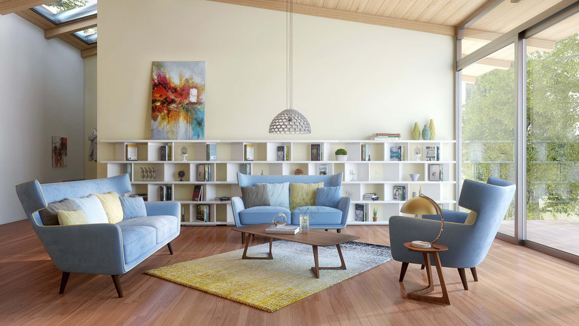beautiful modern interior design with small yellow rugs living rooms decorating ideas