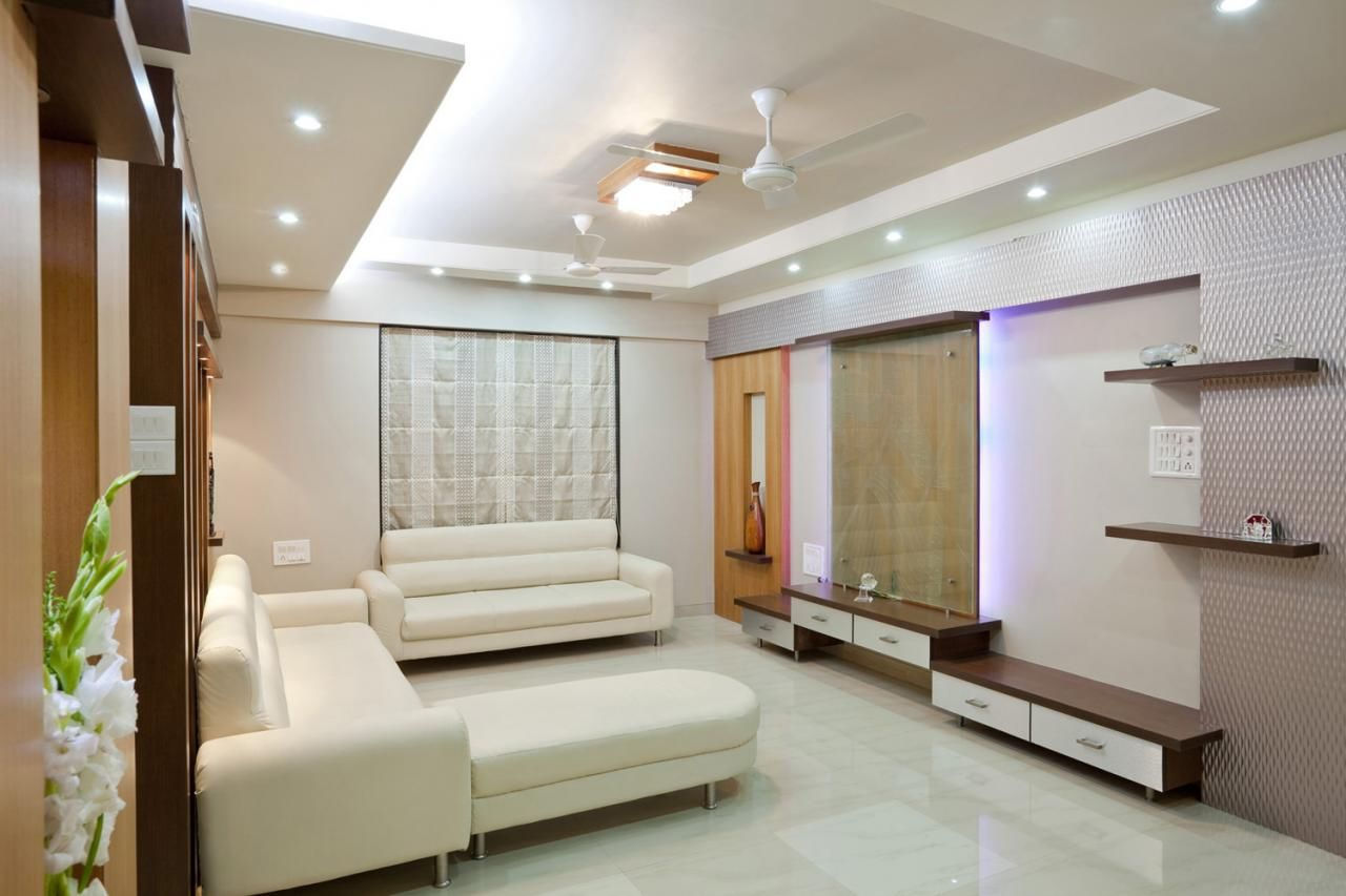 beautiful white living room lighting ideas