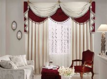 best luxury red white curtain pictures of living rooms