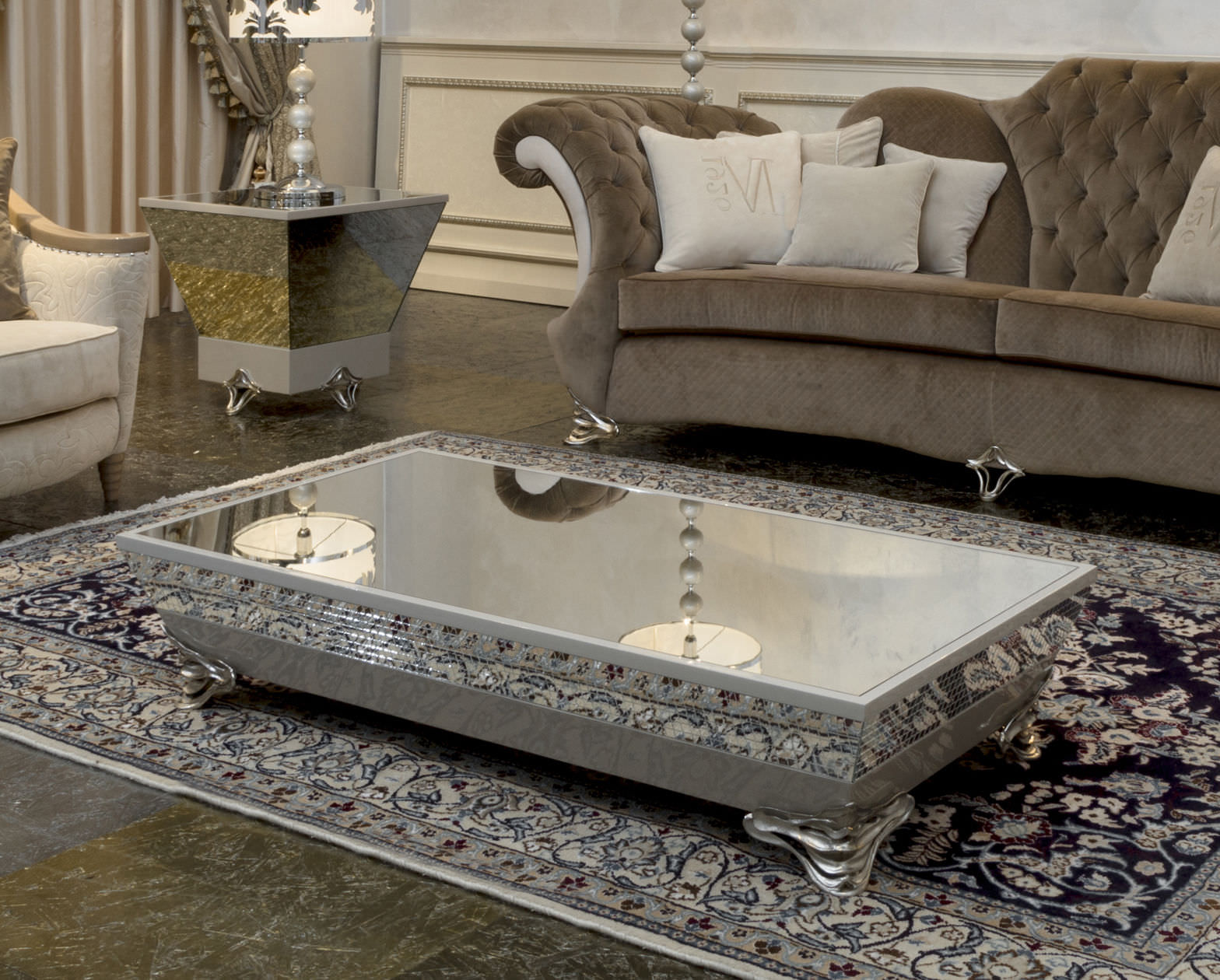 cheap mirrored coffee table 25