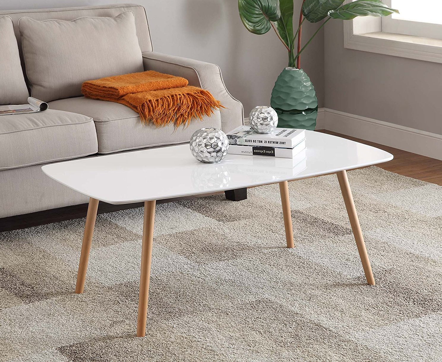 cheap modern white coffee tables under $200