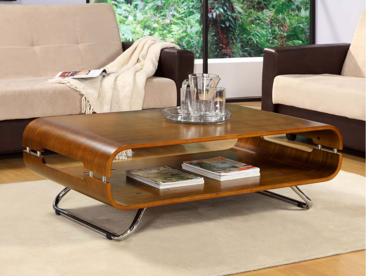 chrome and wood coffee table 06
