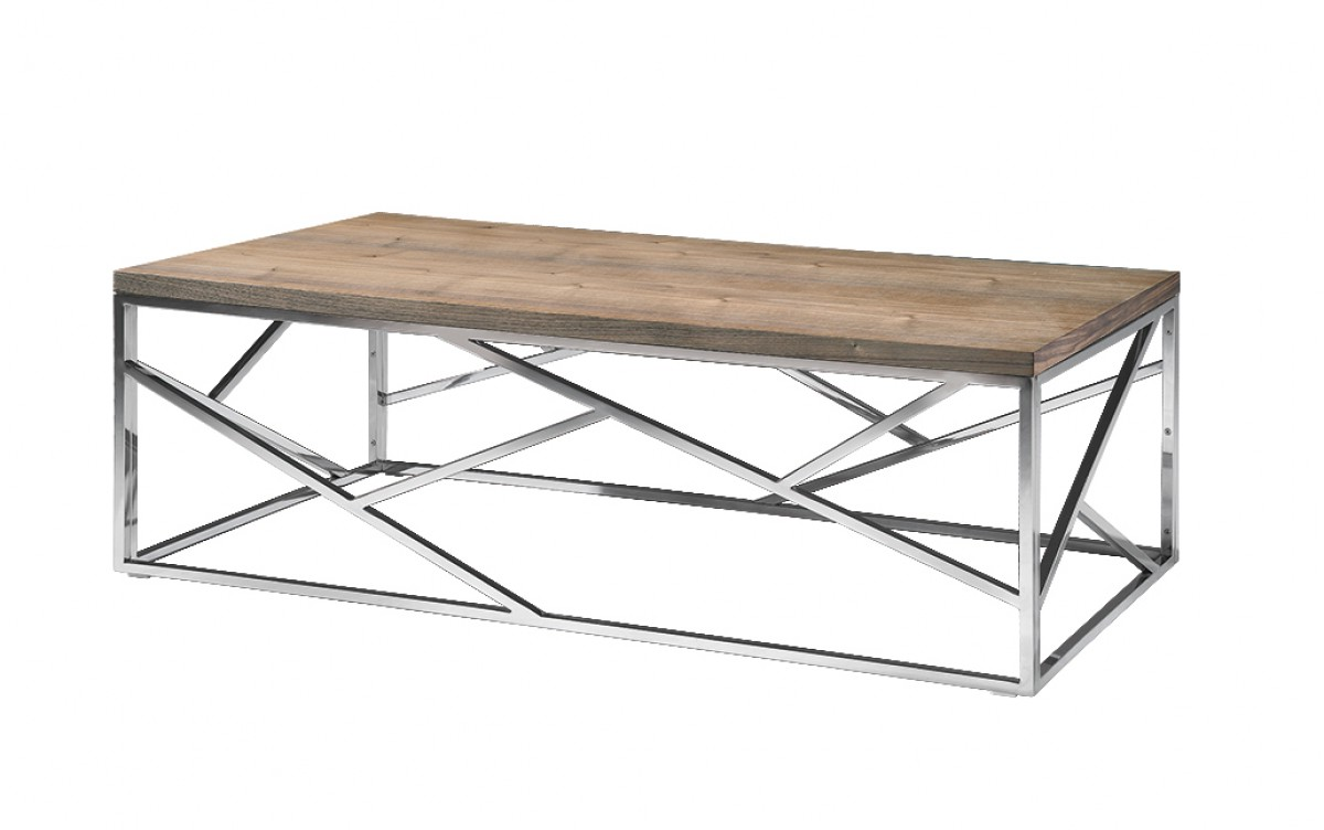 chrome and wood coffee table 11